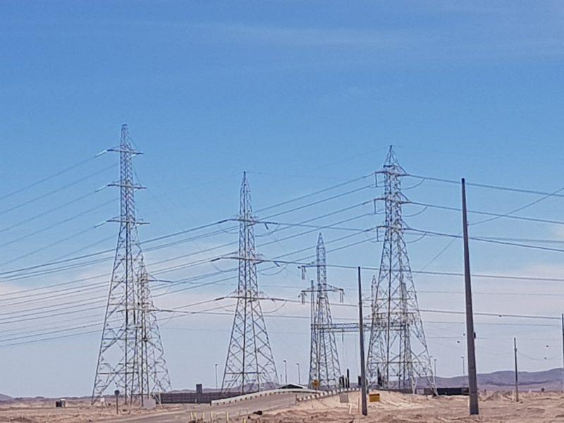 ITO Atravieso de línea 2×500 kV. sobre línea 1×220 kV. Minera Antucoya
