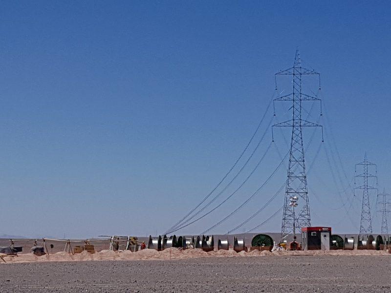 ITO Atravieso de línea 2×500 kV. sobre línea 1×220 kV. Minera Centinela